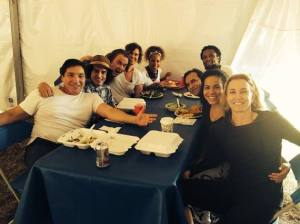 Rich with the cast of American Crime